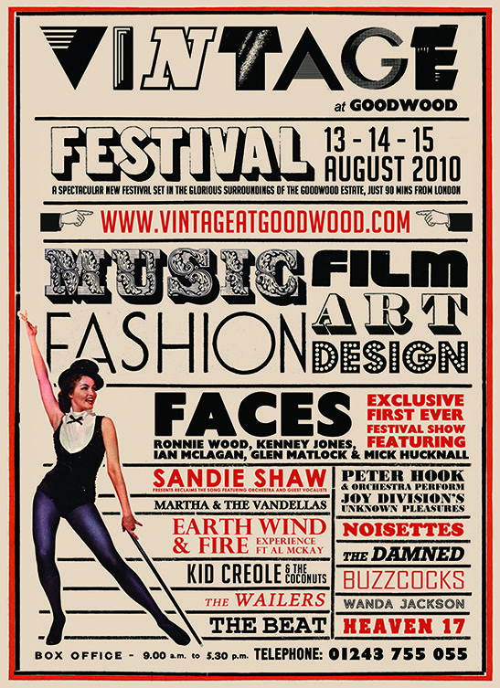 vintage festival goodwood poster graphic