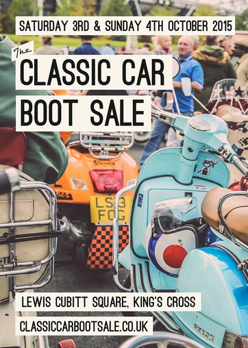 classic car boot sale flyer king's cross
