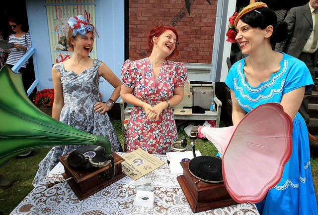 vintage festival ladies gramophone goodwood fashion