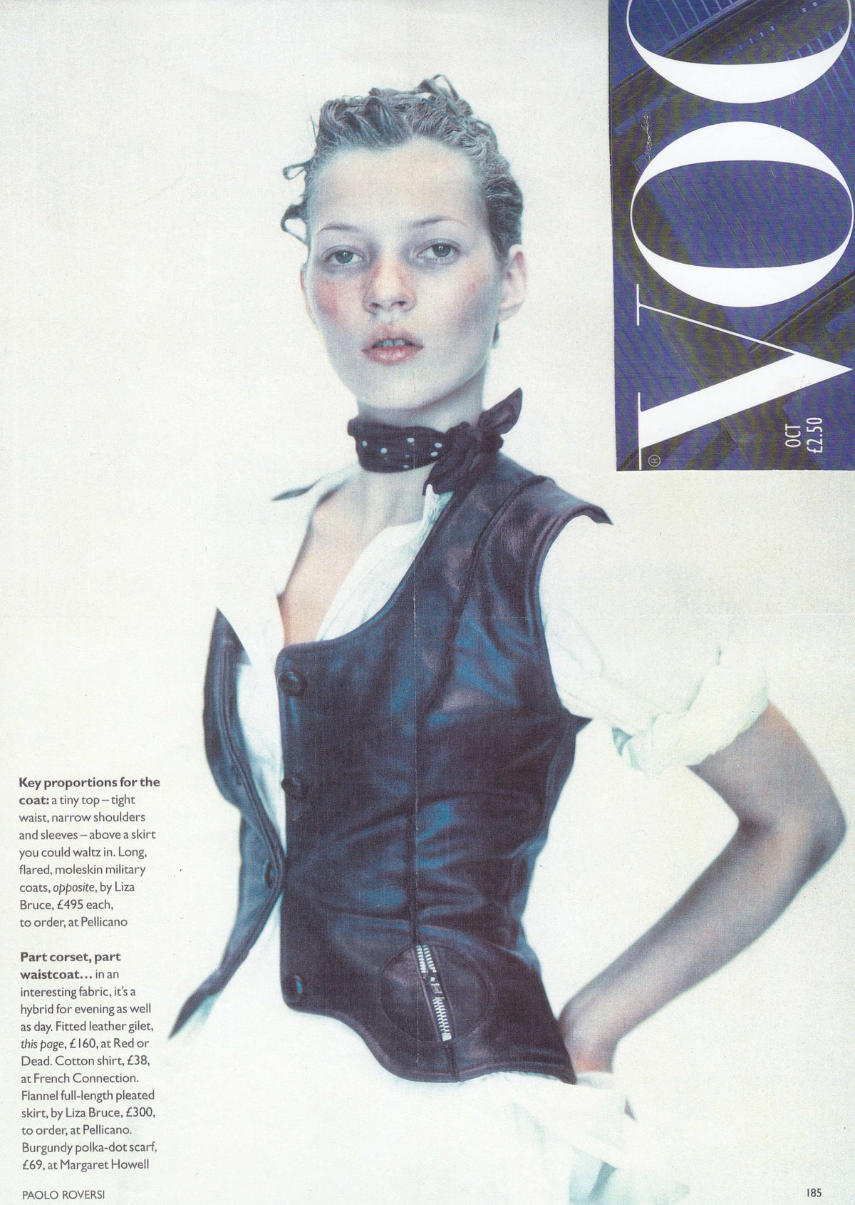 Red or Dead Miners Coat Kate Moss Vogue
