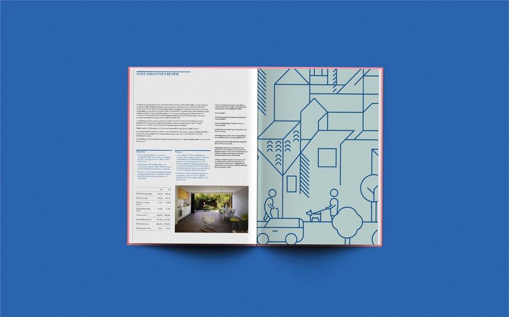 st modwen brochure annual report mockup
