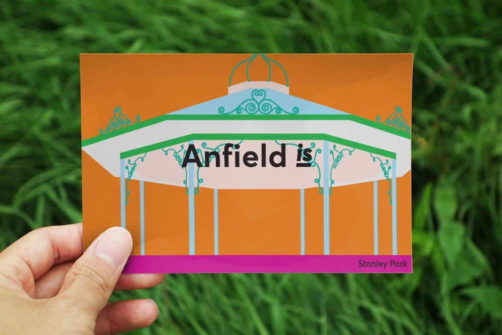 anfield is postcard graphic