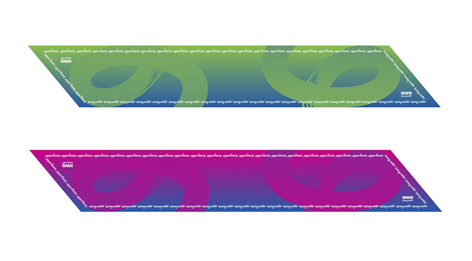 NORTHUMBRIAN WATER scarf design