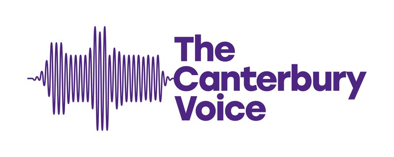 canterbury voice cathedral logo purple