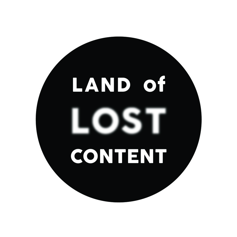 land of lost content logo black circle