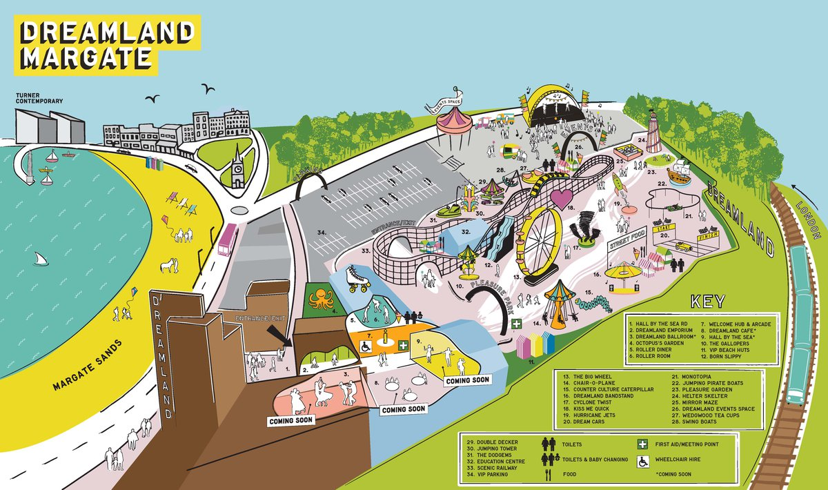Dreamland Margate Map