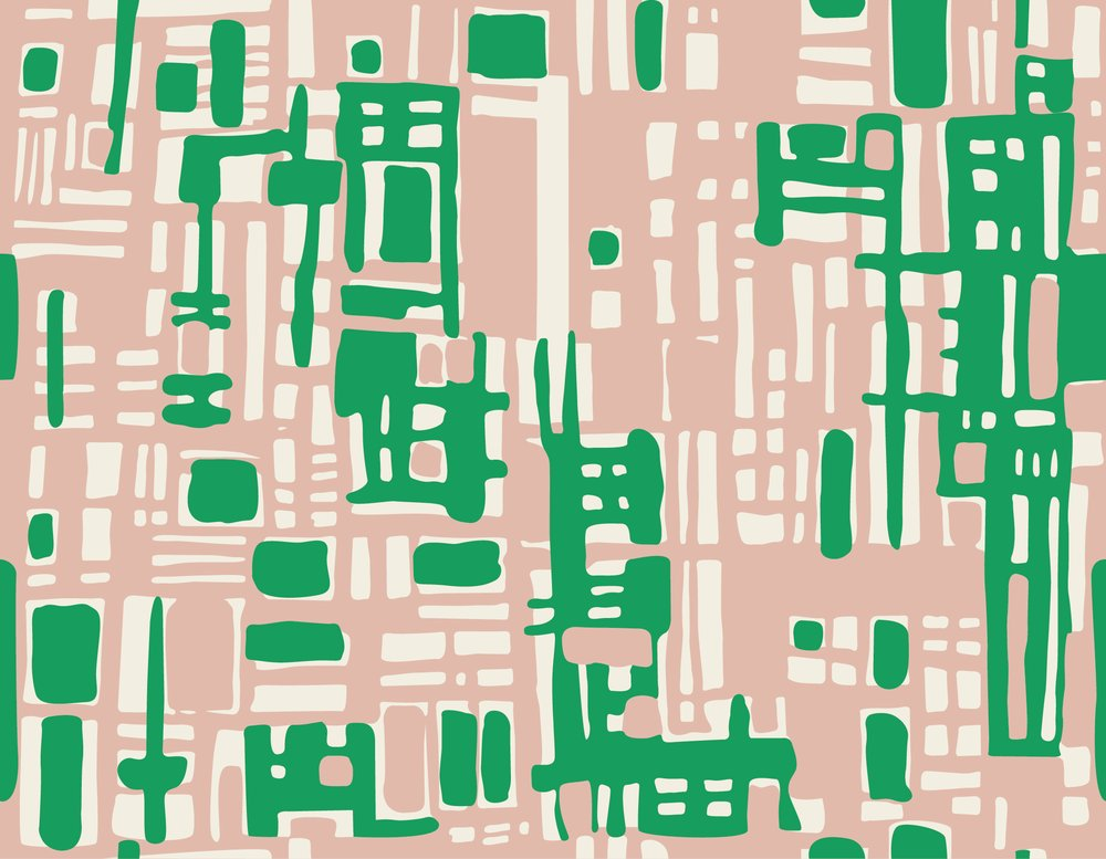 HemingwayDesign Textiles Pink Green