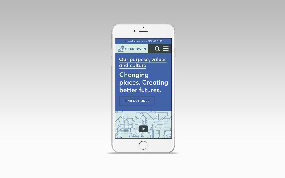 ST MODWEN REBRAND WEBSITE IPHONE DEVICE MOCKUP
