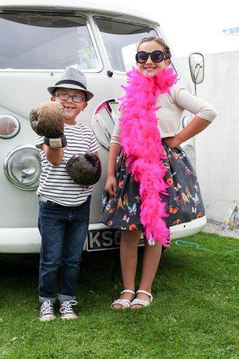 kids dress up camper van midland hotel vintage by the sea