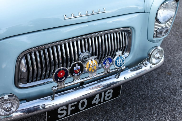 classic car ford prefect vintage by the sea