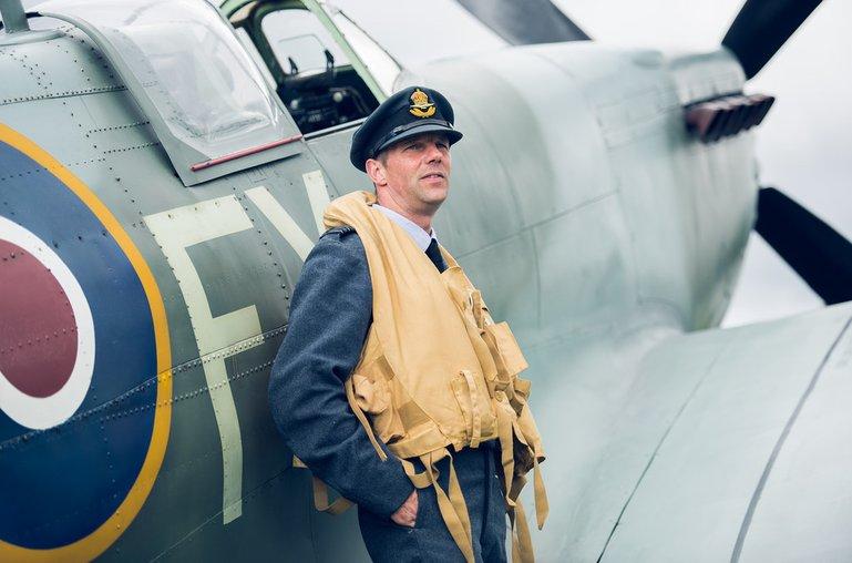 spitfire pilot raf morecambe vintage by the sea