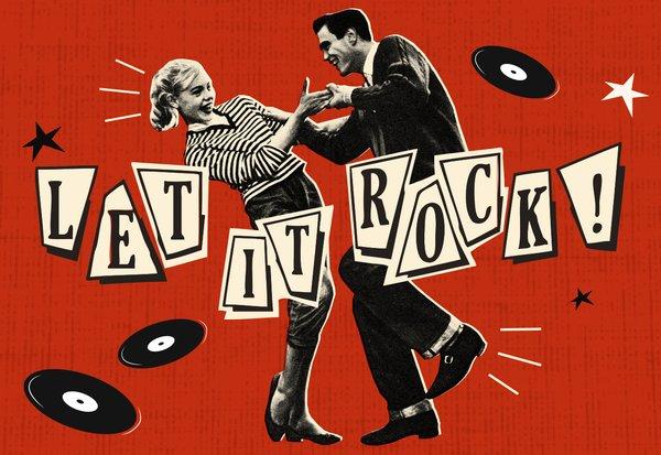 Vintage let it rock 1