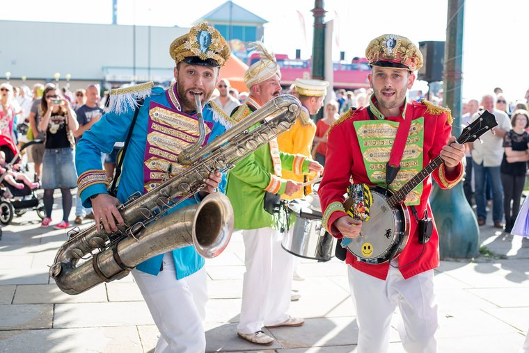 Mr Wilson's Second Liners in Morecambe Vintage By The Sea