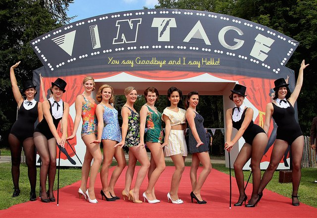 vintage girls at goodwood swimsuits
